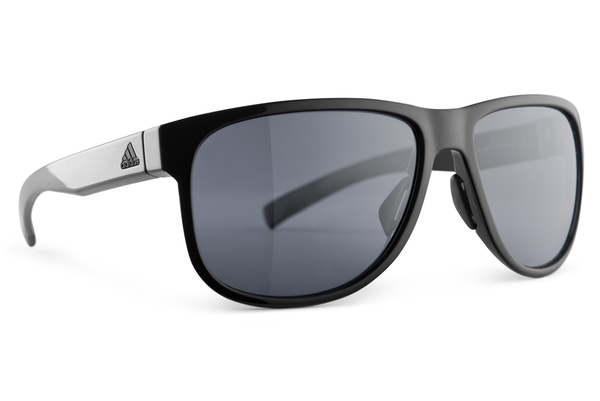 Adidas - Sprung Black Shiny Sunglasses, Gray Polarized Lenses