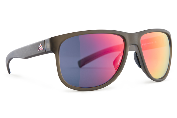 Adidas - Sprung Earth Matte Red Sunglasses, Red Mirror Lenses