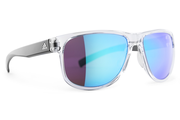 Adidas - Sprung Crystal Shiny / Blue Sunglasses, Blue Mirror Lenses