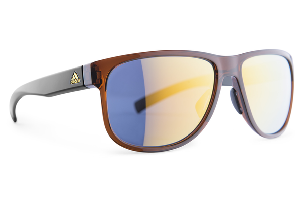 Adidas - Sprung Brown Shiny Gold Sunglasses, Gold Mirror Lenses