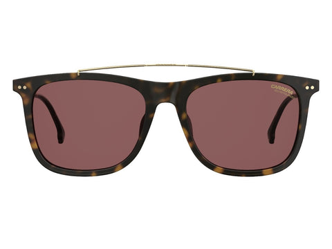 Carrera - 150 Dark Havana Sunglasses / Burgundy Polarized Lenses