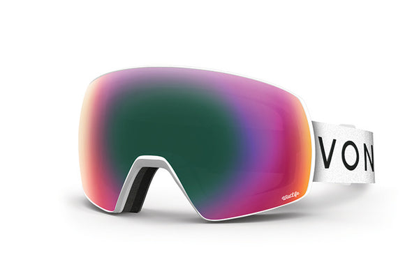 VonZipper - Satellite White Satin Snow Goggles / Wildlife Lenses