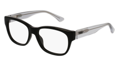 Puma - PJ0003O Junior Black + Grey Eyeglasses / Demo Lenses