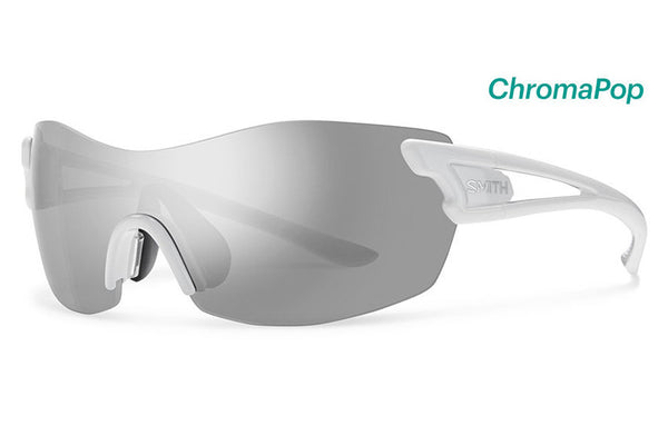 Smith - Pivlock Asana White Sunglasses, ChromaPop Platinum Lenses