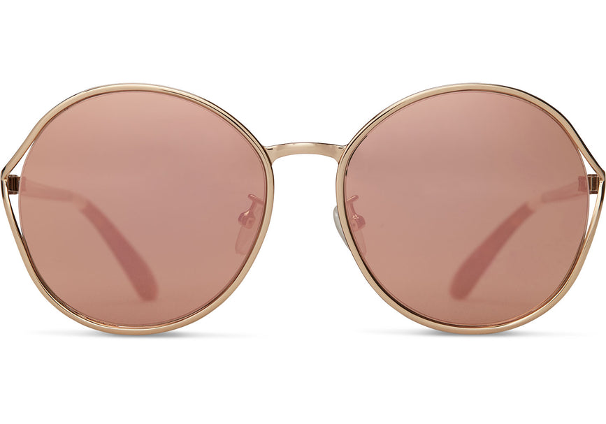 ed8ef836aa42 TOMS - Blythe Rose Gold Sunglasses / Rose Mirror Lenses – New York Glass