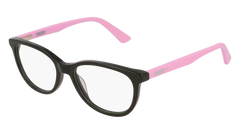 Puma - PJ0021O Junior Black + Pink  Eyeglasses / Demo Lenses