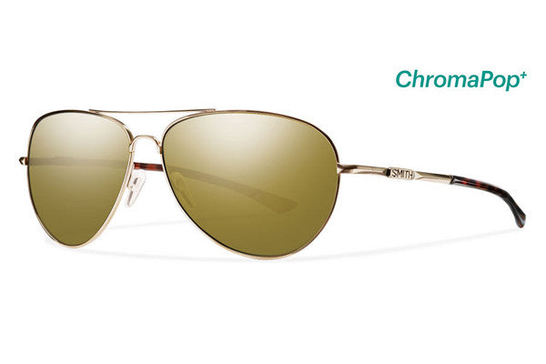 Smith - Audible Gold Sunglasses, ChromaPop Polarized Bronze Mirror Lenses