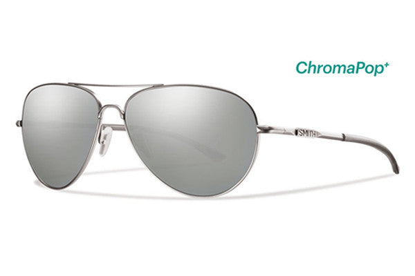 Smith - Audible Matte Silver Sunglasses, ChromaPop Polarized Platinum Lenses