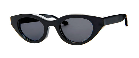 Thierry Lasry - Acidity Black Sunglasses / Solid Gray Lenses