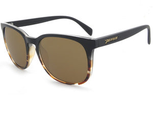 Peppers - Nami Matte Black Fade Sunglasses / Brown Polarized Lenses