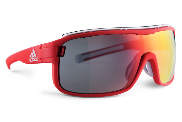 Adidas - Zonyk Pro Solar Red Sunglasess, Red Mirror Lenses