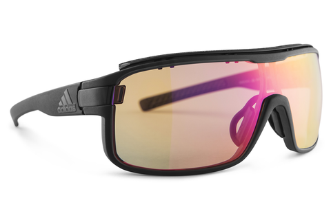 Adidas - Zonyk Pro Coal Matte Sunglasess, LS Bright Vario Purple Mirror Lenses