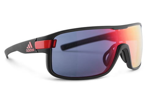 Adidas - Zonyk Coal Matte / Red Sunglasses, Red Mirror Lenses