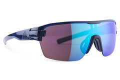 Adidas - Zonyk Aero Blue Shiny / Blue Sunglasses,  Blue Mirror Lenses