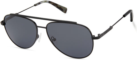 Kenneth Cole - KC7233 Matte Black Sunglasses / Smoke Polarized Lenses
