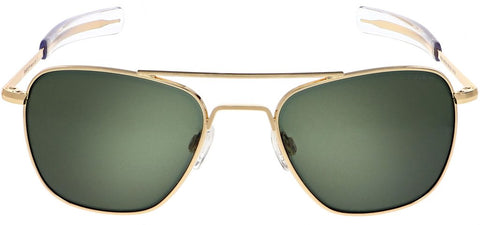 Randolph - Aviator 58mm 23K Gold Bayonet Temple Sunglasses / SkyTec AGX Lenses