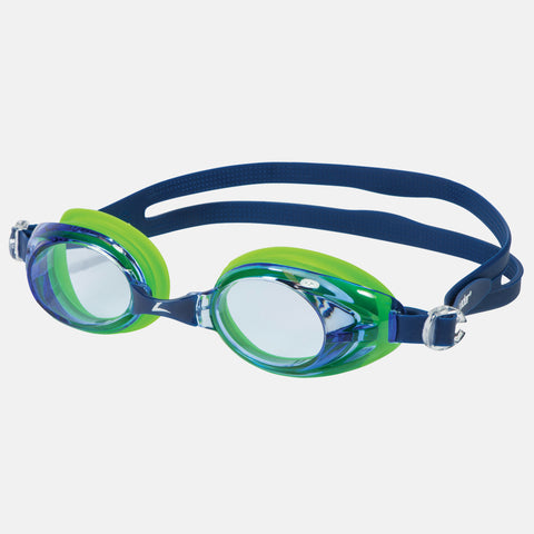 Leader - Relay Adult Regular Fit Intermediate Series Blue Green Swim Goggles / Blue Lenses