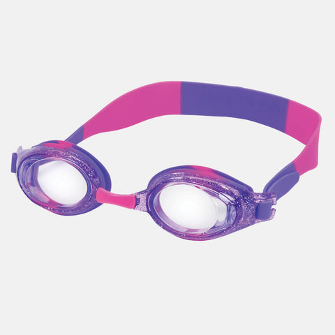 Leader - Anemone Ages 7+ Intermediate Series Sparkle Purple Pink Swim Goggles / Clear Lenses