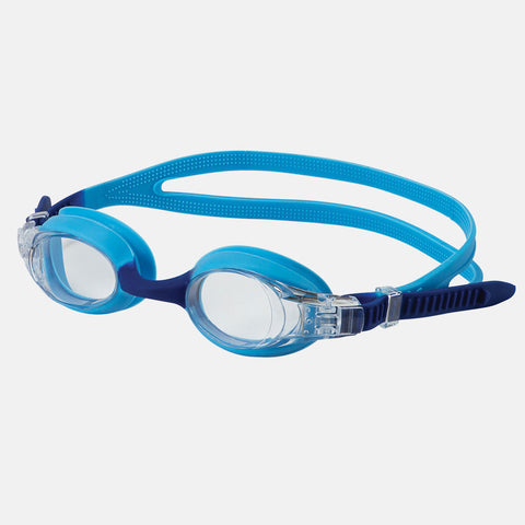 Leader - Starfish Ages 3-6 Advanced Series Light Blue Navy Swim Goggles / Clear Lenses