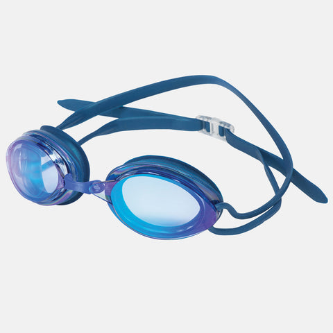 Leader -  Sailfish Adult Regular Fit Intermediate Series Blue Swim Goggles / Mirror Blue Lenses