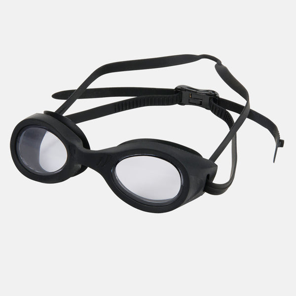 Leader - Stingray Adult Regular Fit Advanced Series Black Swim Goggles / Smoke Lenses