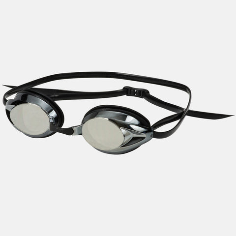 Leader - Zenith Adult Narrow Fit Intermediate Series Black Swim Goggles / Silver Mirror Lenses