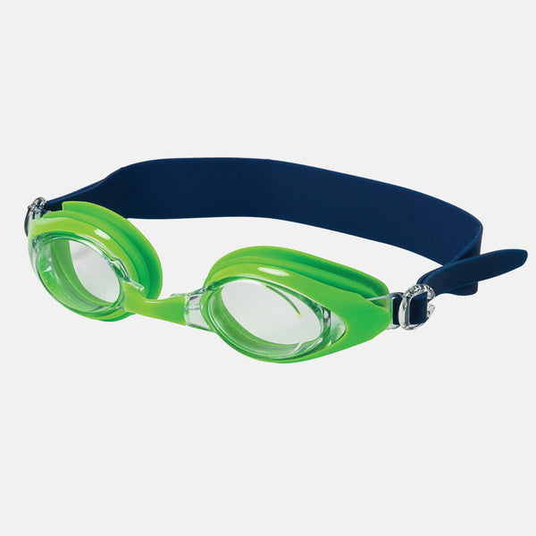 1c66c3d71b3 Leader - Lagoon Adult Narrow Fit Recreational Series Navy Lime Swim Goggles    Clear Lenses – New York Glass