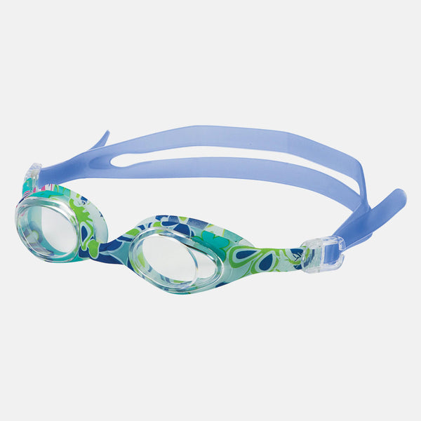 Leader - Aqua Art Ages 7+ Intermediate Series Blue Flower Swim Goggles / Clear Lenses