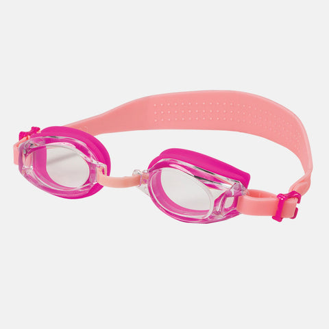 Leader - Angelfish Ages 7+ Recreational Series Hot Pink Light Pink Swim Goggles / Clear Lenses