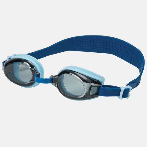 Leader - Angelfish Ages 7+ Recreational Series Light Blue Dark Blue Swim Goggles / Smoke Lenses