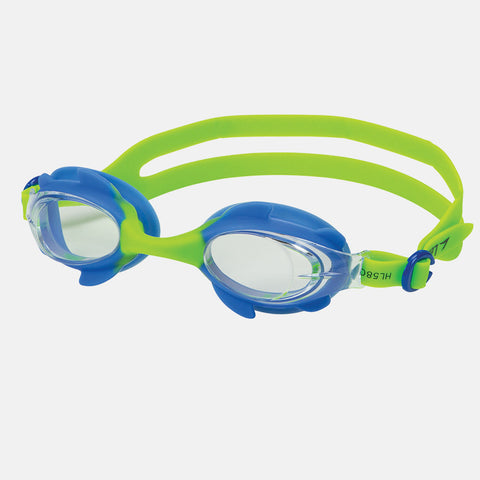Leader - Puffin Ages 3-6 Intermediate Series Blue Green Swim Goggles / Clear Lenses