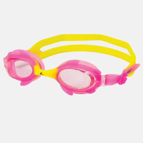 Leader - Puffin Ages 3-6 Intermediate Series Pink Yellow Swim Goggles / Pink Lenses