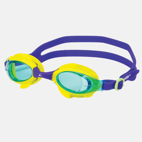 Leader - Puffin Ages 3-6 Intermediate Series Yellow Purple Swim Goggles / Teal Lenses