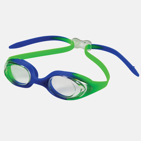 Leader - Circuit Adult Narrow Fit Advanced Series Green Blue Swim Goggles / Clear Lenses
