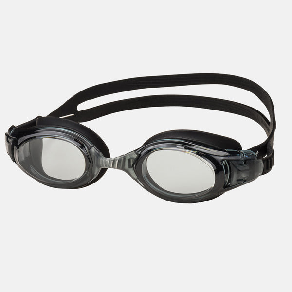 Leader - Surfer Adult Narrow Fit Advanced Series Black Swim Goggles / Clear Lenses