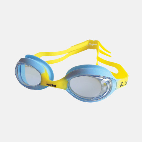 Leader - Atom Ages 3-6 Intermediate Series Blue Yellow Swim Goggles / Blue Lenses