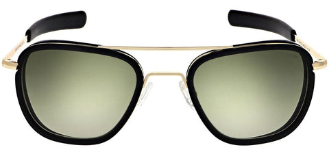 Randolph - Aviator Fusion 58mm 23K Gold Bayonet Temple Sunglasses / SkyForce Air Evergreen Lenses