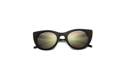 Kyme - Angel Light Rough Black Sunglasses