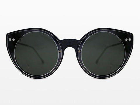 Spitfire - Alpha 1 Black Sunglasses, Clear & Black Lenses