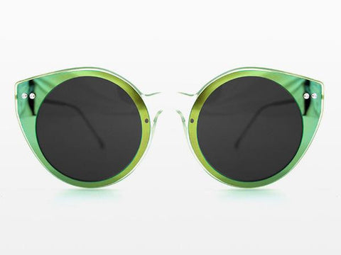Spitfire - Alpha 1 Clear Sunglasses, Green Mirror & Black Lenses