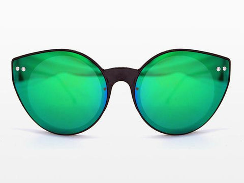 Spitfire - Alpha 2 Black Sunglasses, Green Mirror Lenses