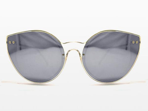 Spitfire Alpha 2 Clear Sunglasses, Silver Mirror Lenses