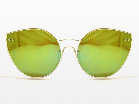 Spitfire - Alpha 2 Clear Sunglasses, Yellow Mirror Lenses