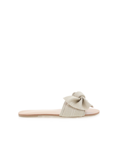 BiLLiNi - Women's Alpha Cream Woven Slides