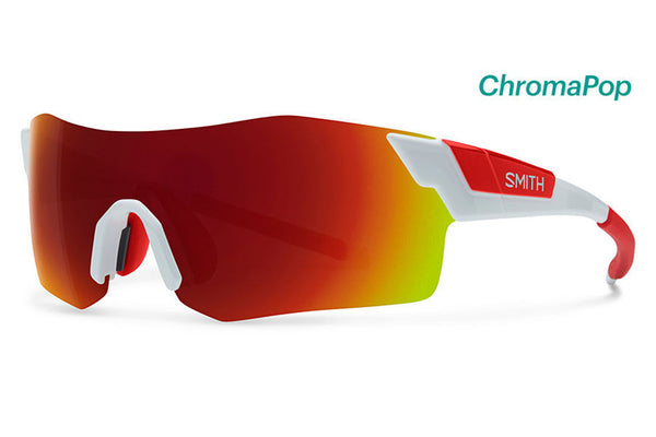 Smith - Pivlock Arena White Sunglasses, ChromaPop Sun Red Mirror Lenses