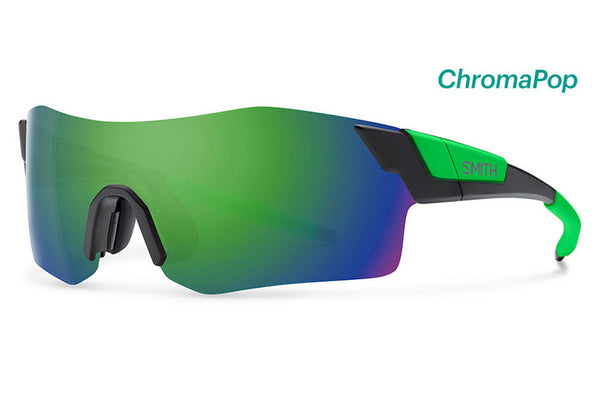 Smith - Pivlock Arena Matte Black Reactor Sunglasses, ChromaPop Sun Green Mirror Lenses