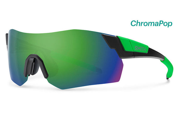 Smith - Pivlock Arena Max Matte Black Reactor Sunglasses, ChromaPop Sun Green Mirror Lenses
