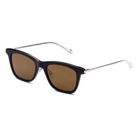 Adidas Originals - AOK005 Black + Gold Sunglasses / Gold Mirror Lenses