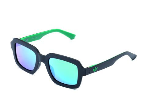 Adidas Originals - AOR021 Black Sunglasses / Green Mirror Lenses