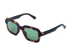 Adidas Originals - AOR021 Havana Brown Sunglasses / Full Shaded Green Lenses